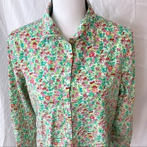 Land's End Floral button-down shirt M/10